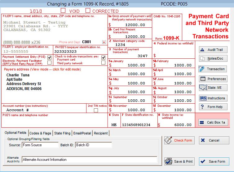 1099-K Software for 1099-K Reporting | Print & eFile 1099-K