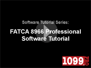 FATCA 8966 Professional Video Tutorial