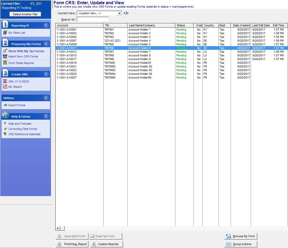 software per crs