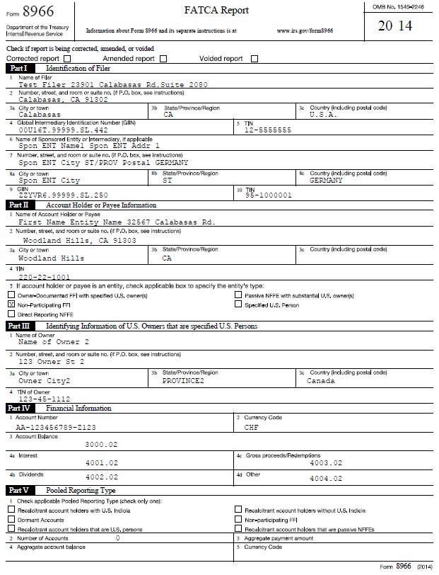 Fatca 8966 Software Fatca Reporting Software