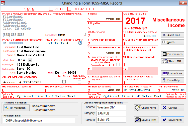 1099 Printing Software Form 1099 Filing Software