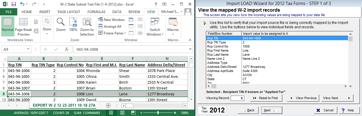 where is the import code on w2 form